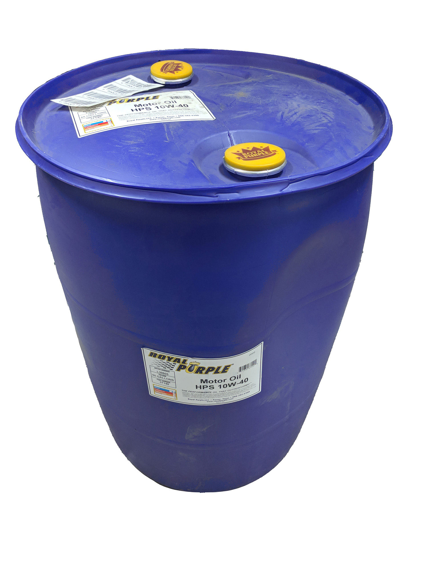Royal purple 37140 55 gallon drum hps 10w 40 synthetic for Gallon of motor oil